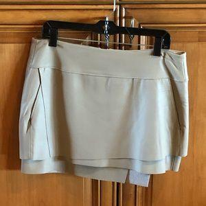 Helmut Lang Leather Tiered Mini Skirt